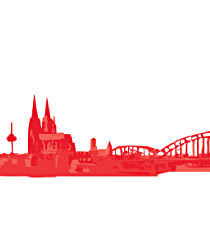 Briefpapier-Set 'Köln-Skyline'